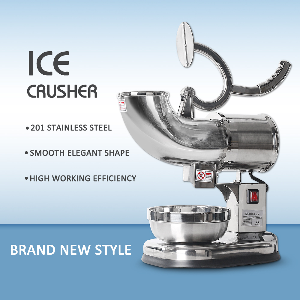 ITOP Commercial Stainless Steel Ice Crushers Shavers Electric Ice Cream Smoothie Snow Maker Ice Chopper for Coffee Shop Hotel