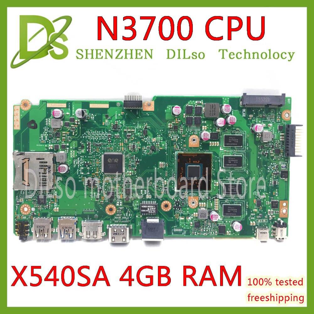 KEFU X540SA REV2.1 apto Para ASUS X540SA N3700 CPU Laptop motherboard COM 4GB de MEMÓRIA motherboard teste trabalho 100% salários -16 $ desconto