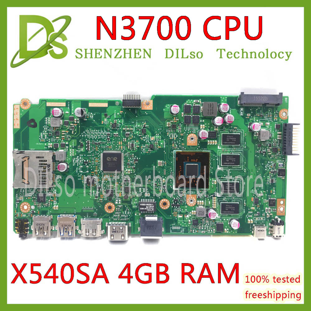 KEFU X540SA REV2.1 fit For ASUS X540SA N3700 CPU Laptop motherboard WITH 4GB MEMORY test motherboard work 100% pay 16$ discount