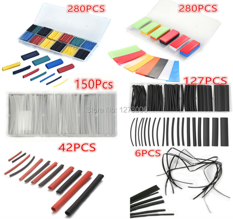 Brand NEW 6 Types Assorted PE/PVC/ Polyolefin Heat Shrink Tubing Car ...