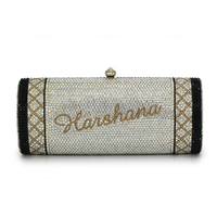 Name Design Clutches Crystal Evening Bags for Party Wedding Bridal Crossbody Bag (B1004 CM)