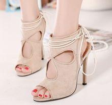 ขนาด4 ~ 9กลวงออกรองเท้าส้นสูงผู้หญิงปั๊มลูกไม้ขึ้นในช่วงฤดูร้อนผู้หญิงรองเท้าs zapatos mujer