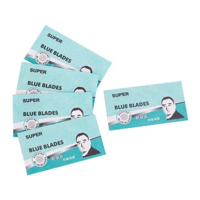 50pcs Brand Shaving Razor Blades for Men Face Clean Stainless Steel Double Edge Shaver Blades Safety Razor Blades Super Blue