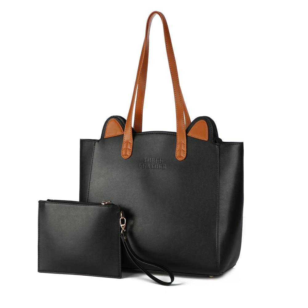 e77c02174fa5 Cute Handbags Women Bags Designer High Quality Women s Leather Handbags Big Cat  Tote Bag Ladies Shoulder Bag Woman Double Arrows