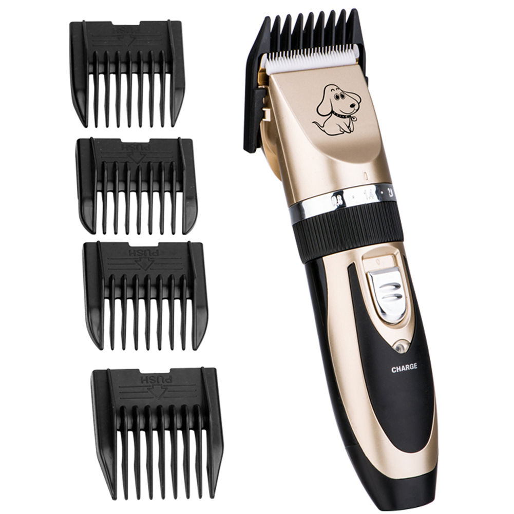 ФОТО clipper set puppy/cat shaver trimmer 4-sizes comb professional pets hair