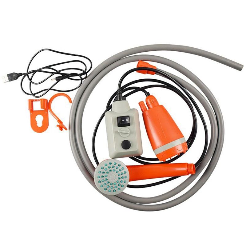 para Acampar Viajar Ksruee Ducha de Camping port/átil Ducha de Camping USB Recargable 5200mAh Bomba de Ducha para Exteriores Ducha de Campamento con Soporte de Ventosa y Cable USB Caminar