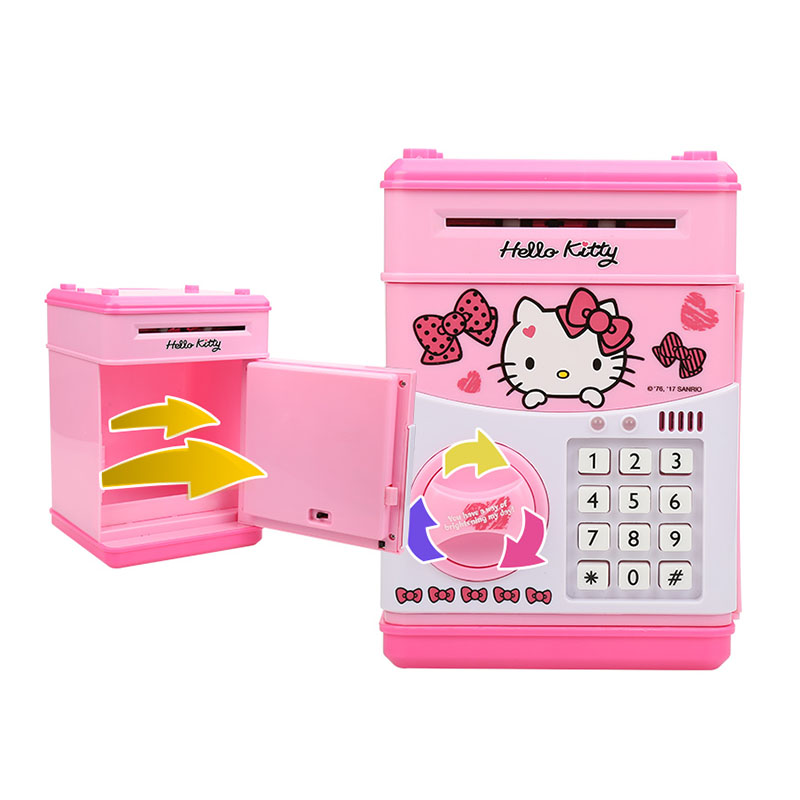 563a0cf8f 100FUN Hello Kitty Electronic Piggy Bank Mini ATM Deposit Box Password Money  Box For Kids Children Toys-in Money   Banking Toys from Toys   Hobbies on  ...