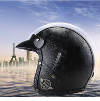 VOSS Motorcycle Helmet Motorcross Full Face Vintage Helmet For Scooter Leather Crash Helmet Windproof Open face Harley Helmets