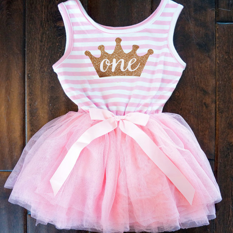 Party Formal Newborn Baptism Dress For Toddler Baby 1 Year Birthday