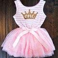 Partido Formal Vestido de Bautismo Para Niño Recién Nacido Bebé de 1 años Vestido de Bautizo Cumpleaños Corona Imperial Niños Niños Vestido de Tela
