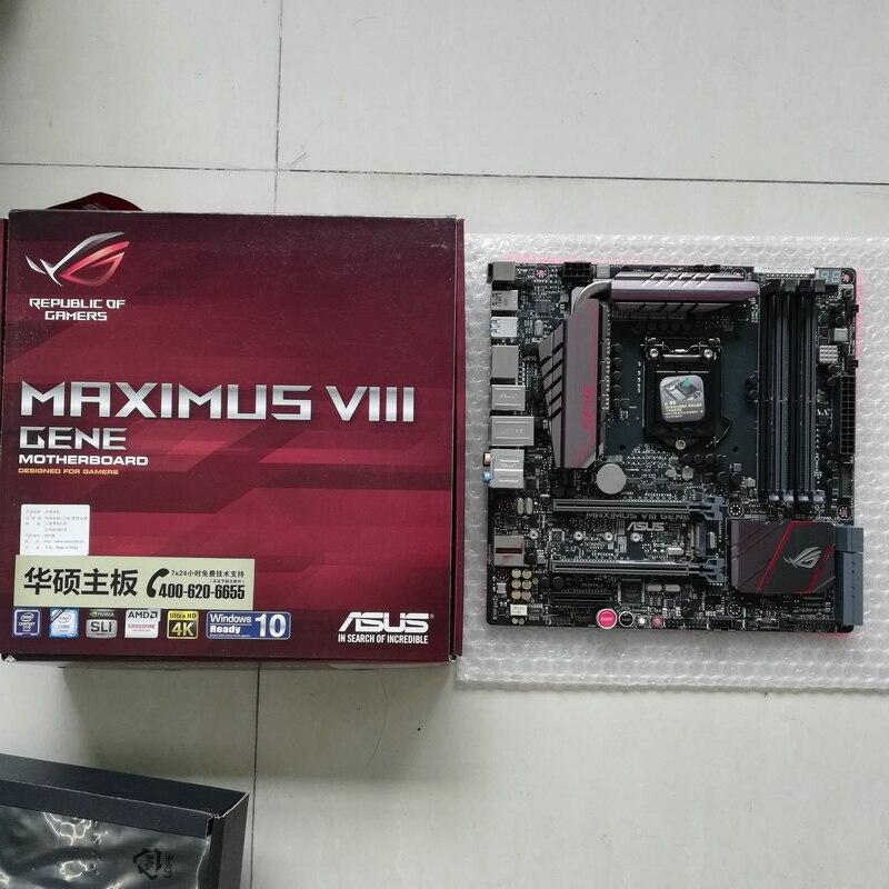 Carte mère MAXIMUS VIII GENE M8G ROG 1151 DDR4 MATX utilisée comme neuve