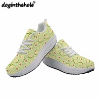 doginthehole Women Sport Toning Shoes Avocado Fruit Printing Running Shoes for Ladies Outdoor Sports Female Sneaker Swing Shoes