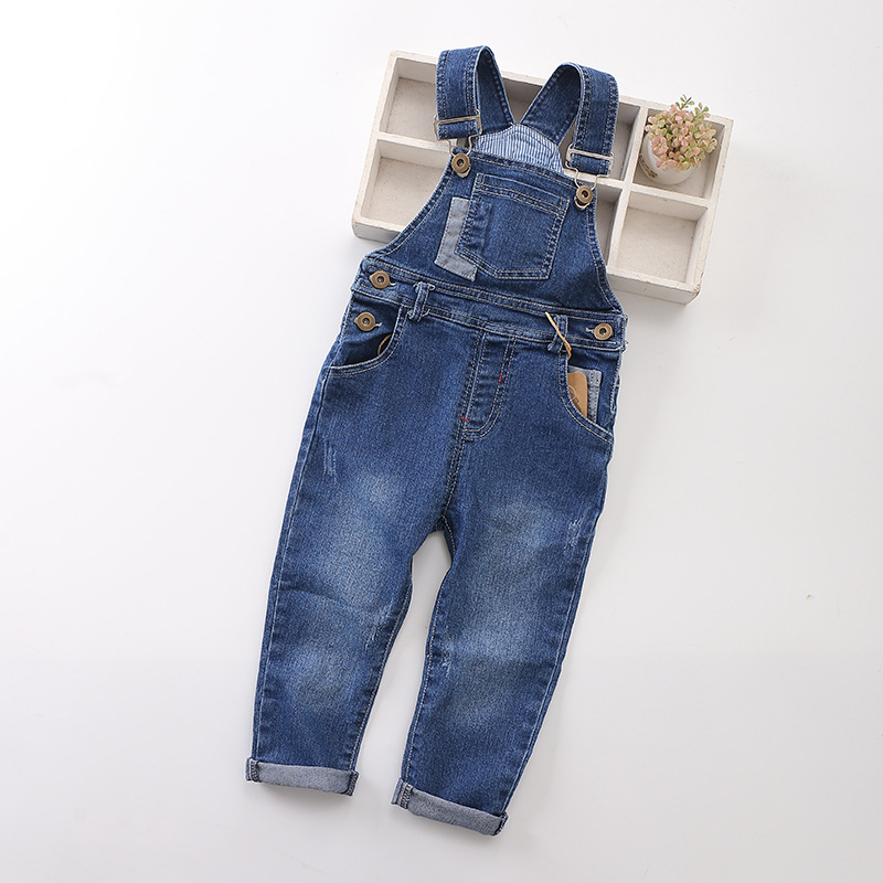 New 2018 Spring Fashion Baby boys gilrs denim jeans Stretch jeans cowboy Overalls Children jumpsuit denim kids girl boy overalls все цены