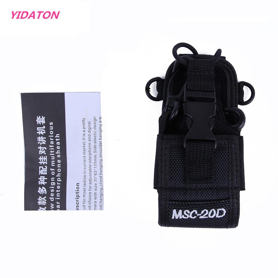 YIDATON MSC-20D Bag Case Holder Nylon Carry Case For Kenwood BaoFeng UV-5R UV-5RA UV-5RB UV-5RC UV-B5 UV-B6 BF-888S radio