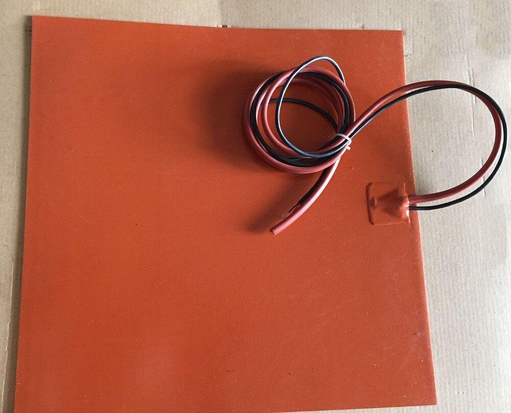 230 v 300x300mm 600 w silicone électrique industriel riscaldamento coperte con 3 m adesivo/thermistore ntc 100 k
