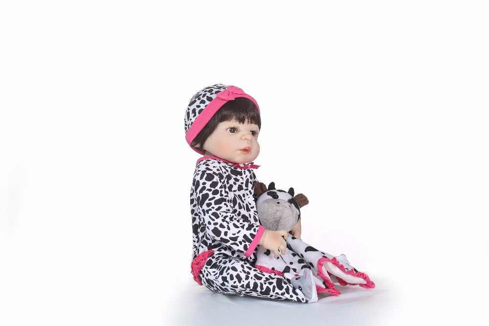 """NPK 55 см всего тела силиконовые возрождается Bebe Boy куклы реалистичные Bebe в мягкие плюшевые 22 """"Кукла Одежда Лучший подарок для детей"""