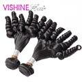 Barato del pelo humano brasileño Fummi pelo 2 unids/lote moda estilo brasileño de la virgen armadura del pelo rizado extensiones del pelo bonito