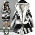 Casacos de inverno Das Mulheres do Estilo Coreano Velo Alinhado Pele Casacos de Algodão-acolchoado Outerwear Militar Parka abrigos mujer Plus Size