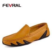 FEVRAL Brand 2020 남성 편안한 캐주얼 로퍼 신발 남성 플랫 패션 디자인 게으른 신발 소프트 드라이빙 슬립 온 남성용 신발