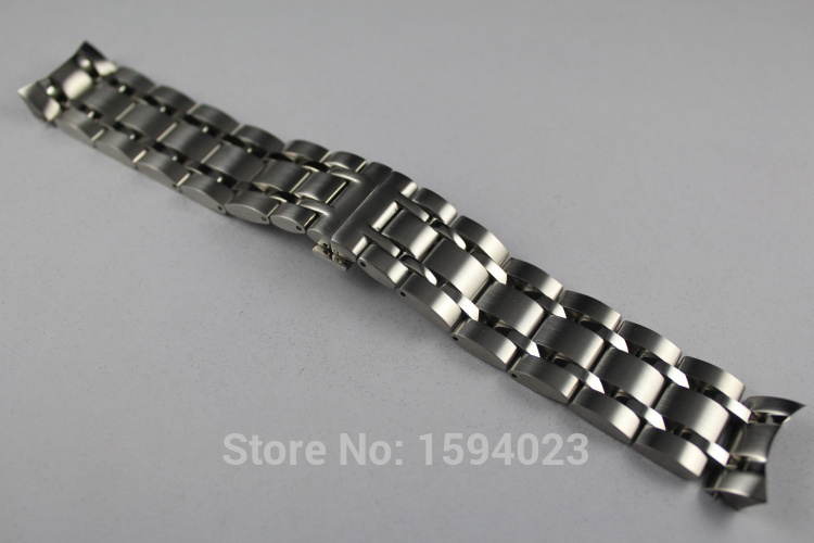 Купить с кэшбэком 23mm T035617 T035439A New Watch Parts Male Solid Stainless steel bracelet strap Watch Bands For T035