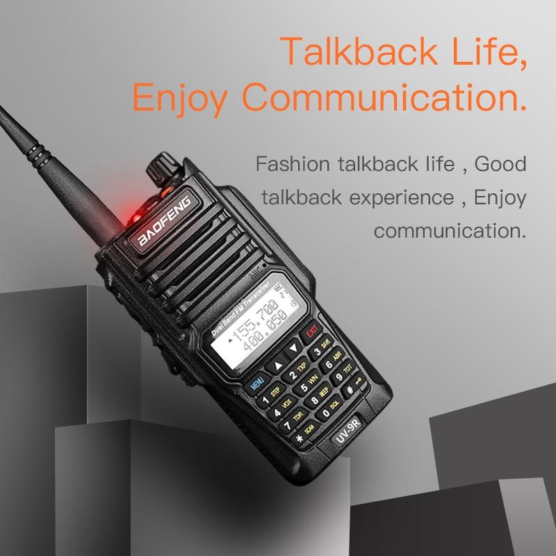 Baofeng UV 9R UV9R Plus Waterproof Walkie Talkie Ham VHF UHF Radio Station IP67 10 km HF Transceiver Communication Equipment
