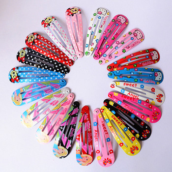 Wholesale 10 PCS per Lot Carton Candy Color Girls Hairpin 5cm BB Clips Snap Band Hairpins Kids Hair Accessories