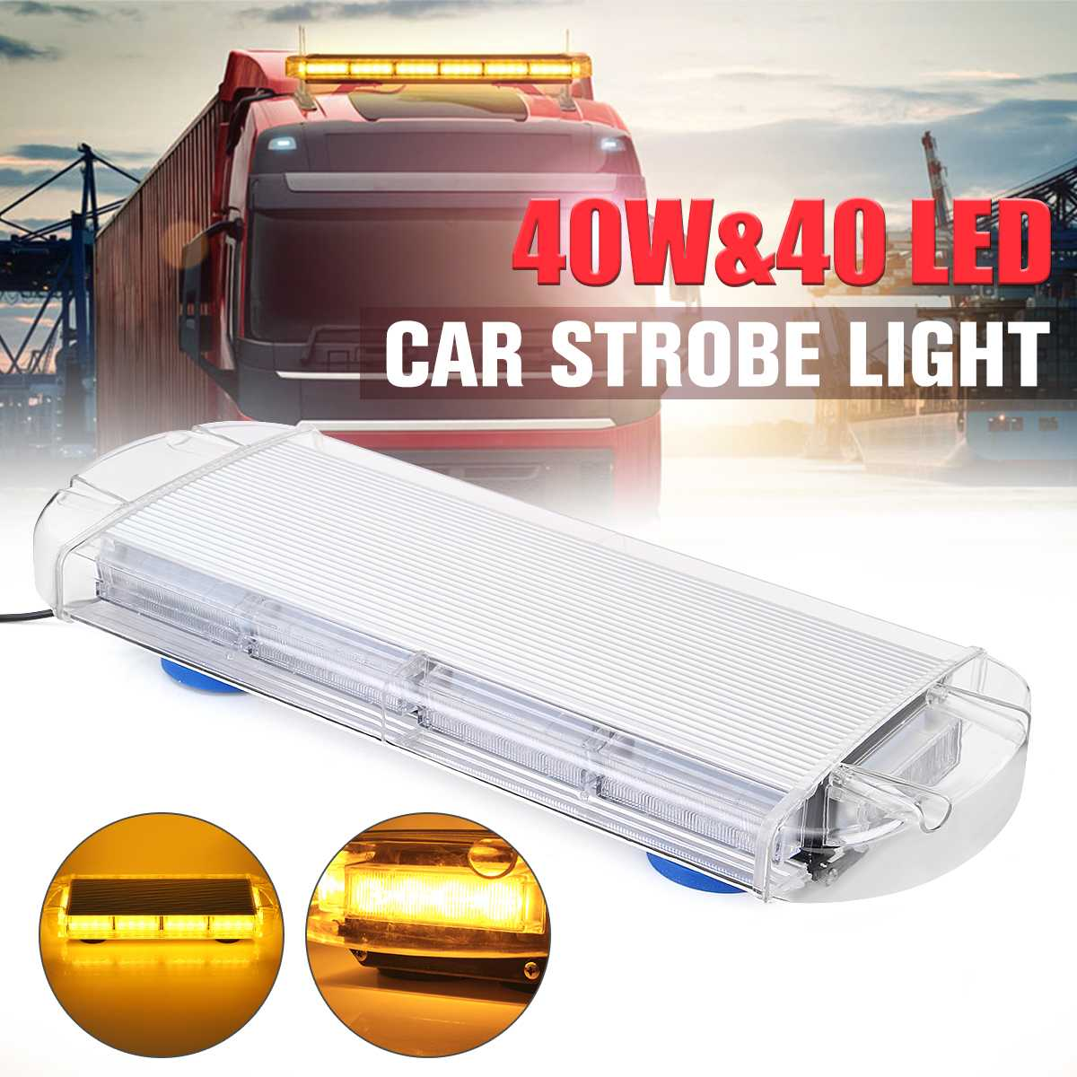 40LED 40W  Warning Strobe Flashing Emergency Recovery Grille Light Bar Car Truck40LED 40W  Warning Strobe Flashing Emergency Recovery Grille Light Bar Car Truck