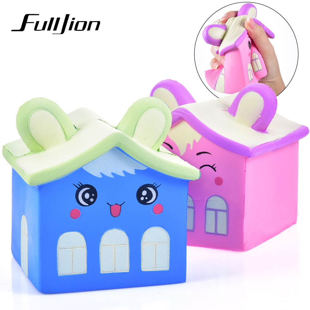 Fulljion Antistress Squishe House Fun Squishy Slow Rising Stress Relief Toys Novelty Gag Toys Popular Gadget Gag Practical Jokes fulljion squishy alpaca slow rising antistress squishe toys jumbo fun gadget squisy stress relief toy girls gags practical jokes