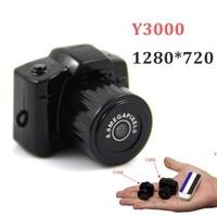 Y3000 Black Mini DV 720P High Definition Mini Camera DV Recorder Camcorder With Cable Strap Hot