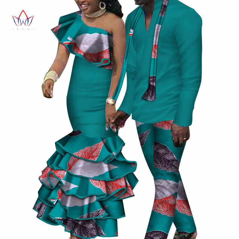 d0053324cc ... 2018 new Men Sets and women's clothing for the wedding summer  traditional african clothing couples matching ...