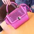 2017 New Fashion Women's Shoulder Bag Candy Color Sequins Messenger Bag Mini Cute Handbag Ladies Party Tote Bag