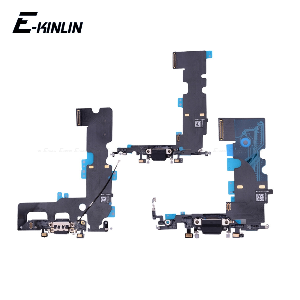 High Quality Charging Flex Cable For <font><b>iPhone</b></font> 7 <font><b>8</b></font> Plus X USB Charger Port Dock <font><b>Connector</b></font> With Mic Flex Cable image
