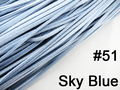 10pcs 3mmx1.5mm Sky Blue Flat Faux Suede Velvet Leather Cord -1M/pcs NCS27-51