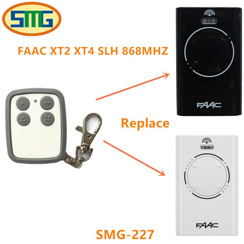 Free Shipping clone duplicate copy 868mhz FAAC XT2 XT4 SLH garage gate door open remote control handsender key free shipping  metal garage door open