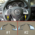 Steering Wheel Trims FOR Mazda 2 Demio DJ DL 2015 2016 Mazda2 Chrome Interior Inner Audio Console Switch Cover