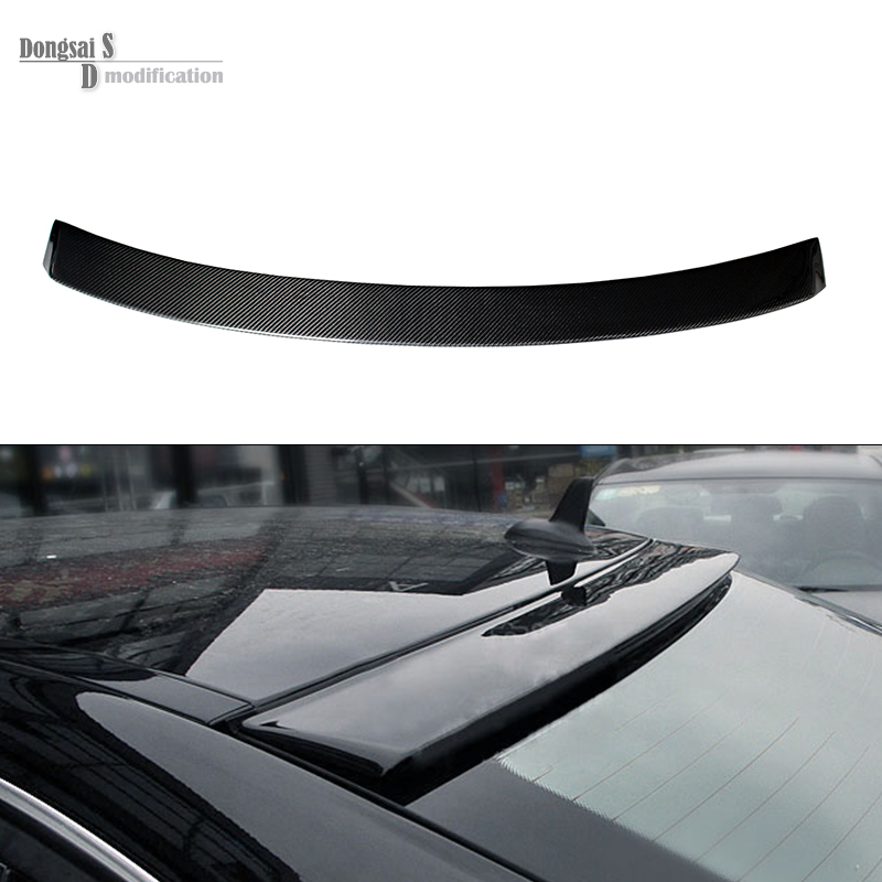 Mercedes W204 Carbon Fiber Roof Spoiler For Benz C Class W204 C180 C200 C300 C260 4 Doors 2007 - 2014 Rear Roof Spoiler mercedes carbon fiber trunk amg style spoiler fit for benz e class w207 2 door 2010 2015 coupe convertible vehicles