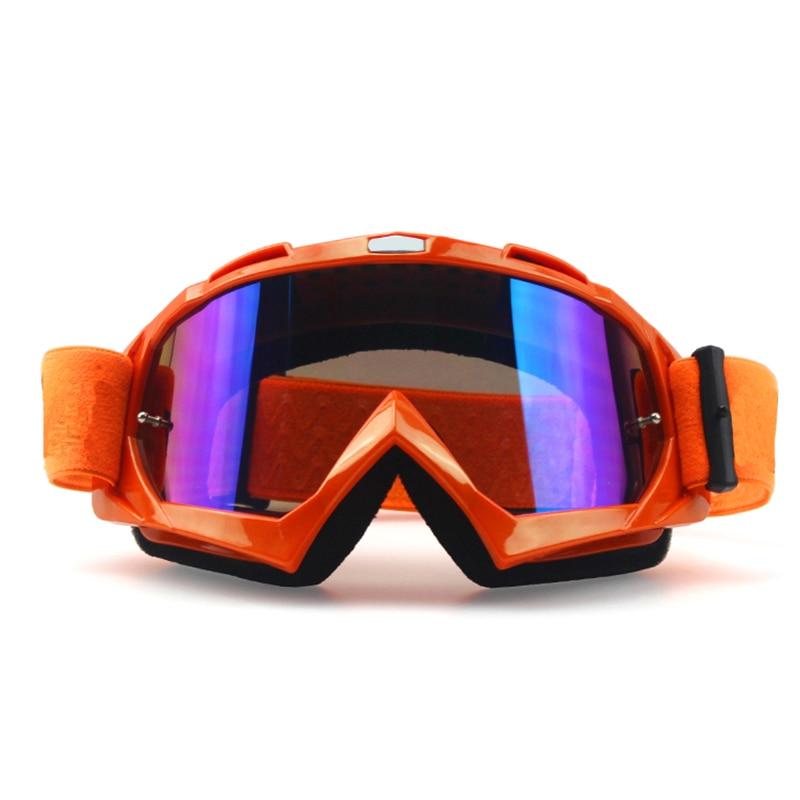 Мотоцикл Очки для лыжного спорта Очки Гонки Мотокросс ATV MTB очки Lentes Deportivos наружное Радуга PC объектива