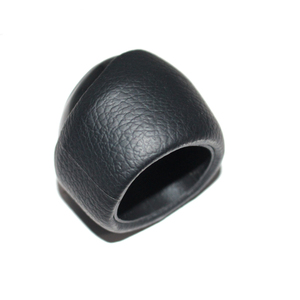 Image 4 - 5 and 6 Speed Car Shift Gear Knob Covered Real Leather For SAAB 9 3 2003 2004 2005 2006 2007 2008   2012