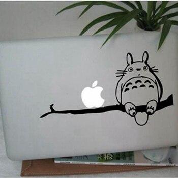 Totoro na gałęzi dla Apple Macbook 13 cali i 11 cali Vinyl kalkomania naklejka na laptopa, japońskie naklejki Anime