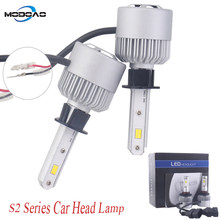 S2 Series LED Headlight Bulbs White color Vehicle Headlamp Bulbs Car Lights 6000K White Light H1 H3 H7 H8/9/11 880/881(China)
