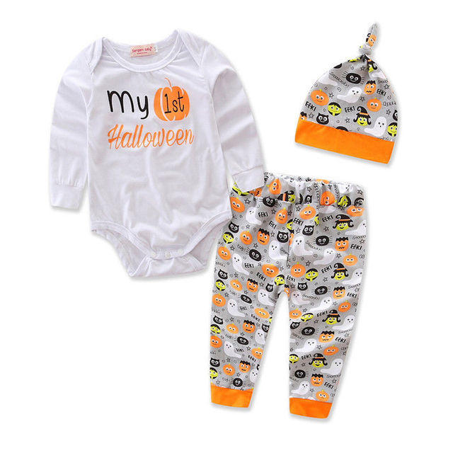beautiful my 1st halloween baby boys girls fancy romper pant party costume outfithat set