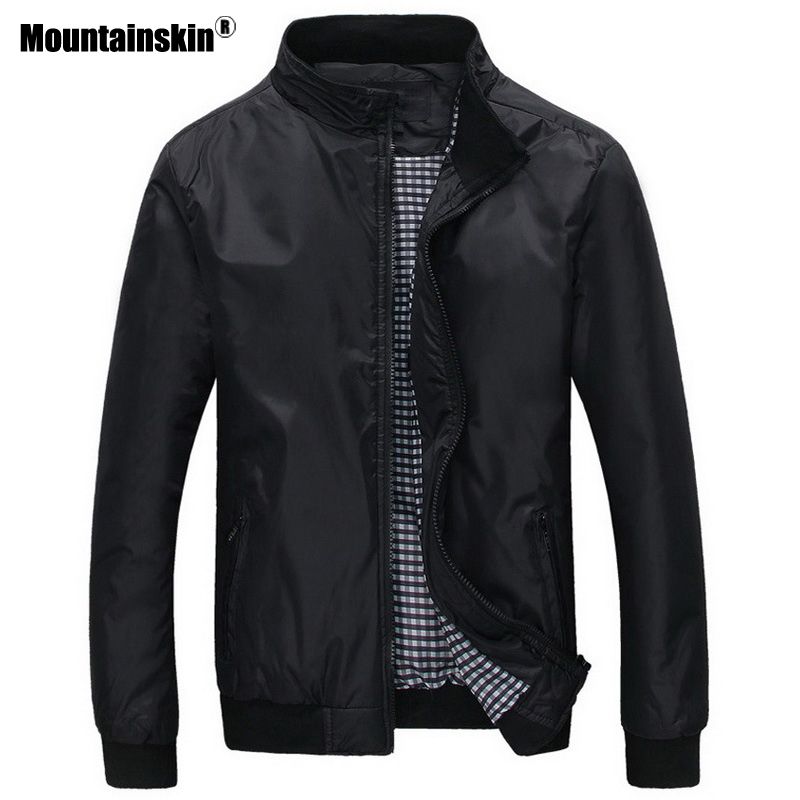 Mountainskin New Men's Jackets Spring Autumn Casual Coats Solid Color Outwear Male Bomber Jacket Mens Brand Clothing SA535