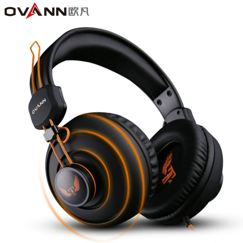 Ovann X7 Over-ear Game Gaming Headphone Wired Headset Earphone Headband with Microphone Stereo Bass Without LED Light for PC cd 618 crack led light cool headphone with microphone bass stereo headset earphone wired usb pro for computer gamer headband pc