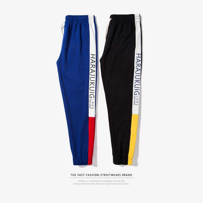 Enflasyon 2018 erkekler giysi marka giyim nedensel Sweatpant erkekler Streetwear parça pantolon pamuk moda Hip Hop Sweatpants 360W17