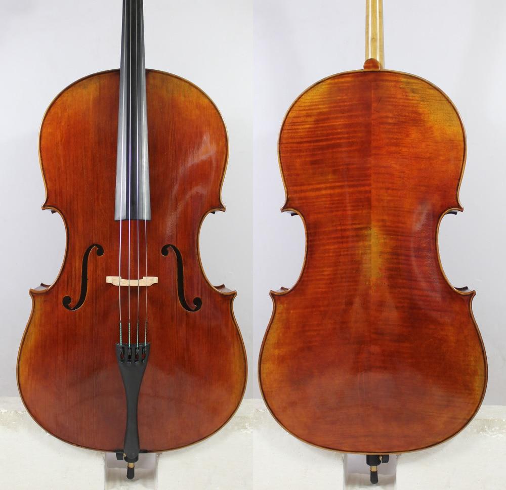 Amazing Cello!Copy Montagnana Cello Model!Wide Body!Oil Varnish 4/4 Cello All European Wood