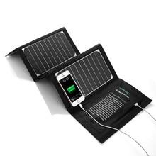 Poweraddแบบพกพา20วัตต์dual usbชาร์จพลังงานแสงอาทิตย์แผงเซลล์แสงอาทิตย์สำรองสำหรับiphoneโทรศัพท์มือถือสากลจัดส่งฟรี