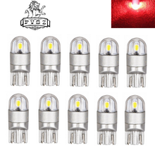 LED T10 W5W 3030 168 192 2W Red 2-SMD Indicator Lamps (2 Pcs)