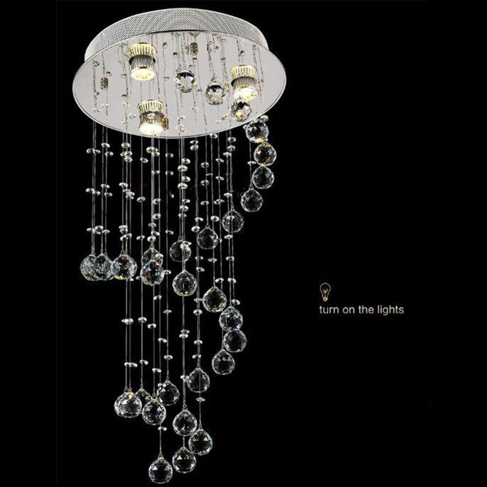 40*80cm Modern spiral crystal hanging lamp living room bedroom LED ceiling mounted lamp/light Crystal suspension chandelier lamp все цены