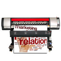 1.8m Eco Solvent CMYK Inkjet Printer 6ft Large Format XP600 Head Plotter Vinyl Sticker PVC Banner Photpaper Printing Machine