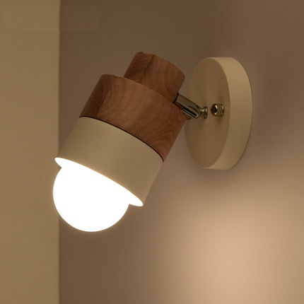 Simple Fashion Modern Wall Sconces Adjust Wooden Wall Light Fixtures Balcony Aisle Home Indoor Lighting Bedside LED Wall Lamp modern bedside lamp wall light minimalist fabric shade wall sconces lighting fixture for balcony aisle hallway wall lamp wl214